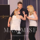 April Shipton, Amy Box and Joel Daffurn perform a live drama to lauch Thirteen at the Maximise Conference