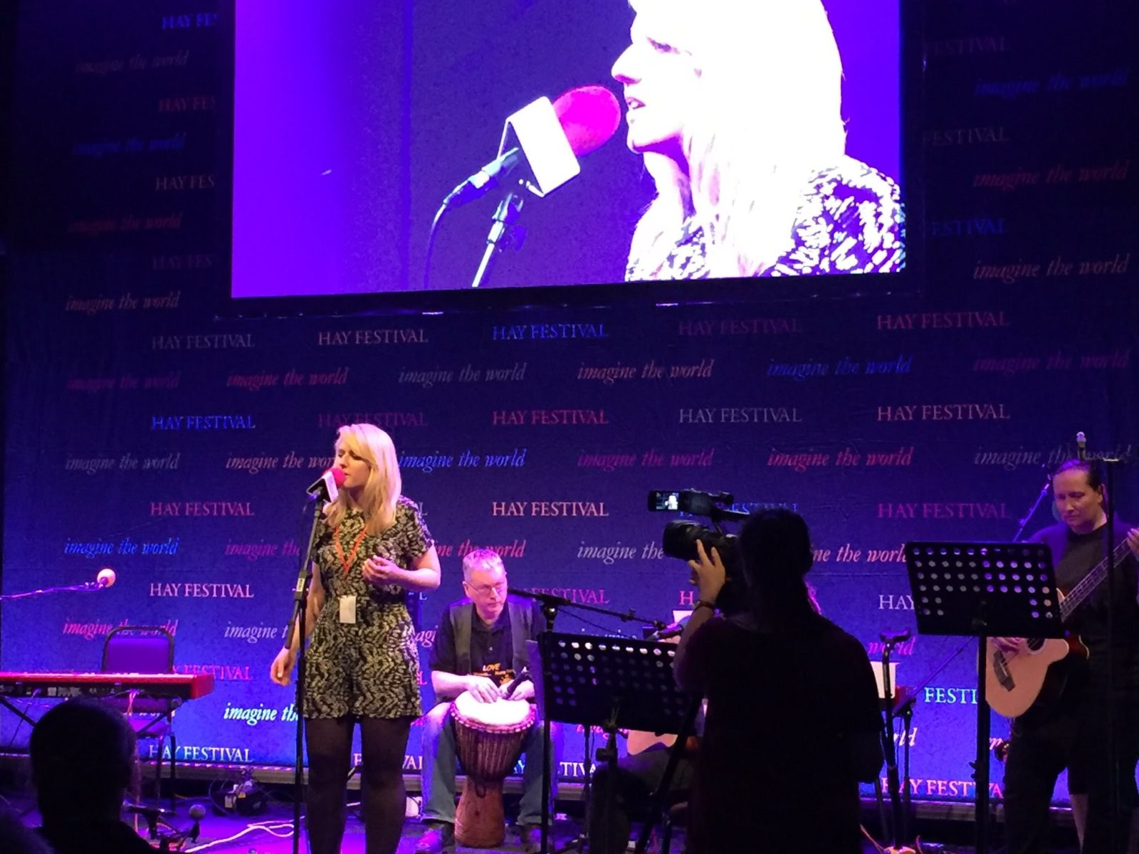 Hay Festival 2017 BBC Tent Introducing Singer April Shipton